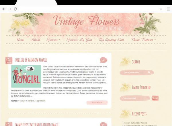 Vintage Flowers Theme