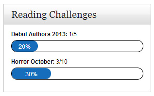 A widget that displays your progress towards your current reading challenges