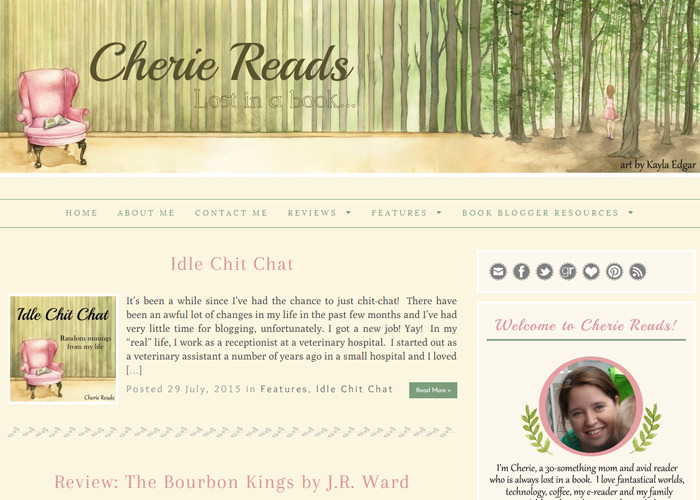 Cherie Reads blog design