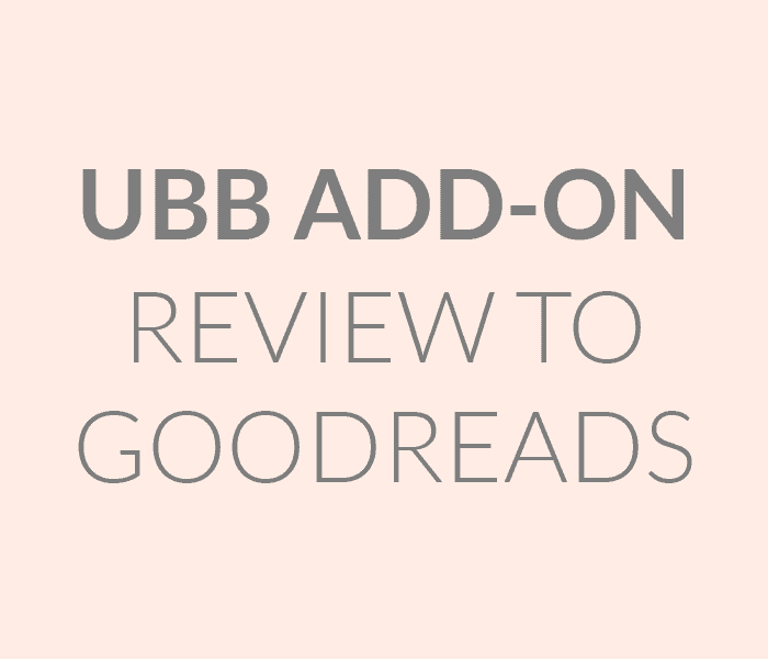 UBB Add-On: Review to Goodreads