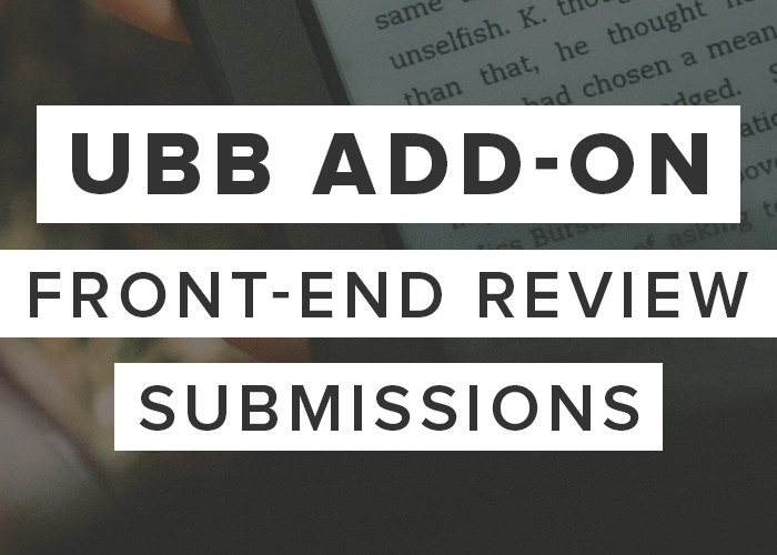 UBB Front-End Review Submissions Add-On