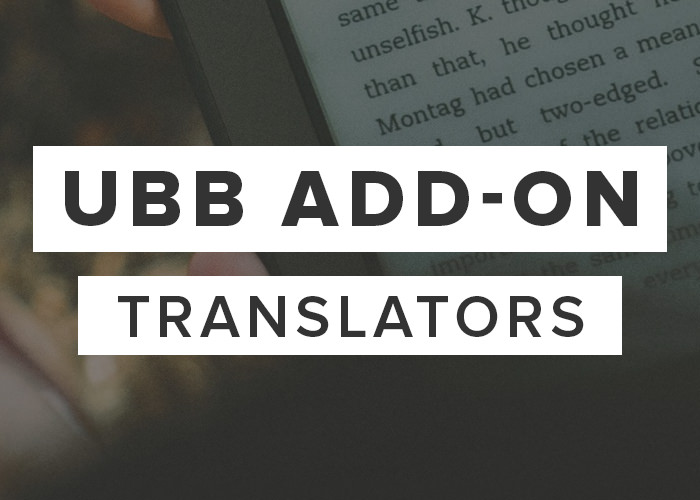 UBB Add-On: Translators