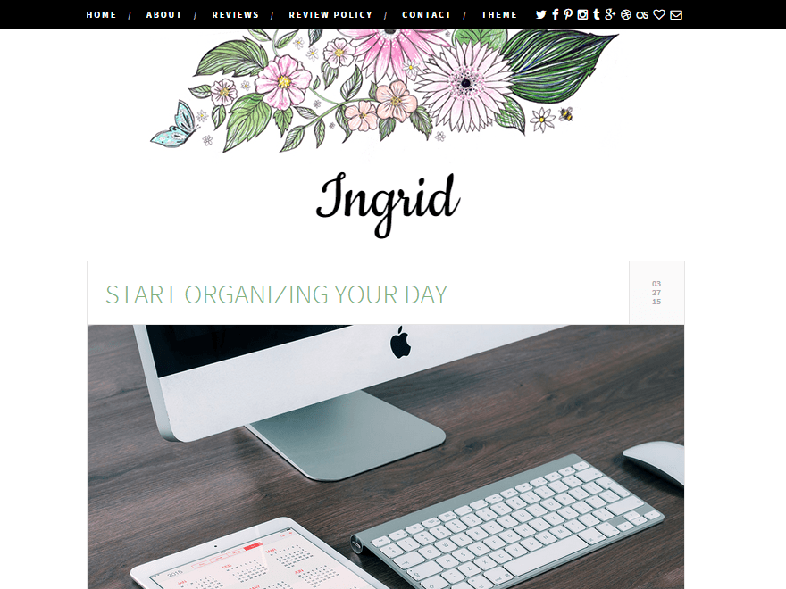 Ingrid - responsive WordPress theme for women