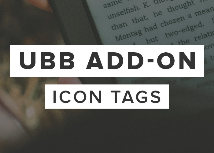 UBB Icon Tags add-on
