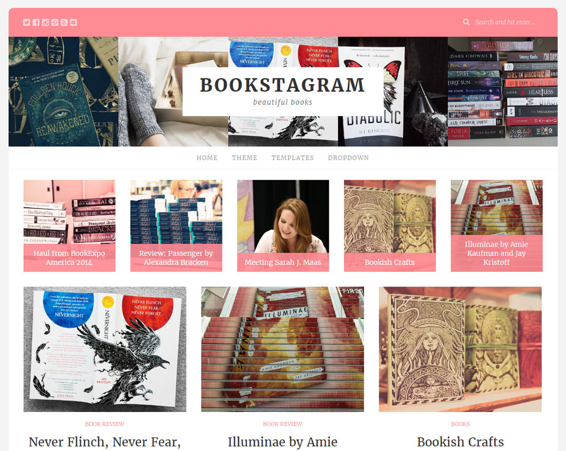 Bookstagram WordPress Theme