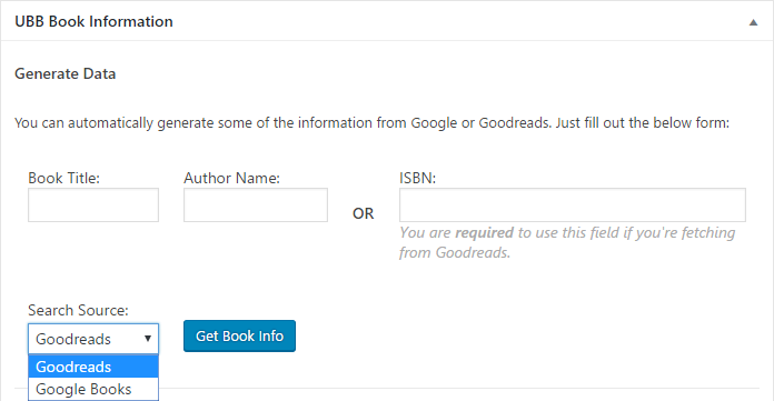 Generate book information automatically