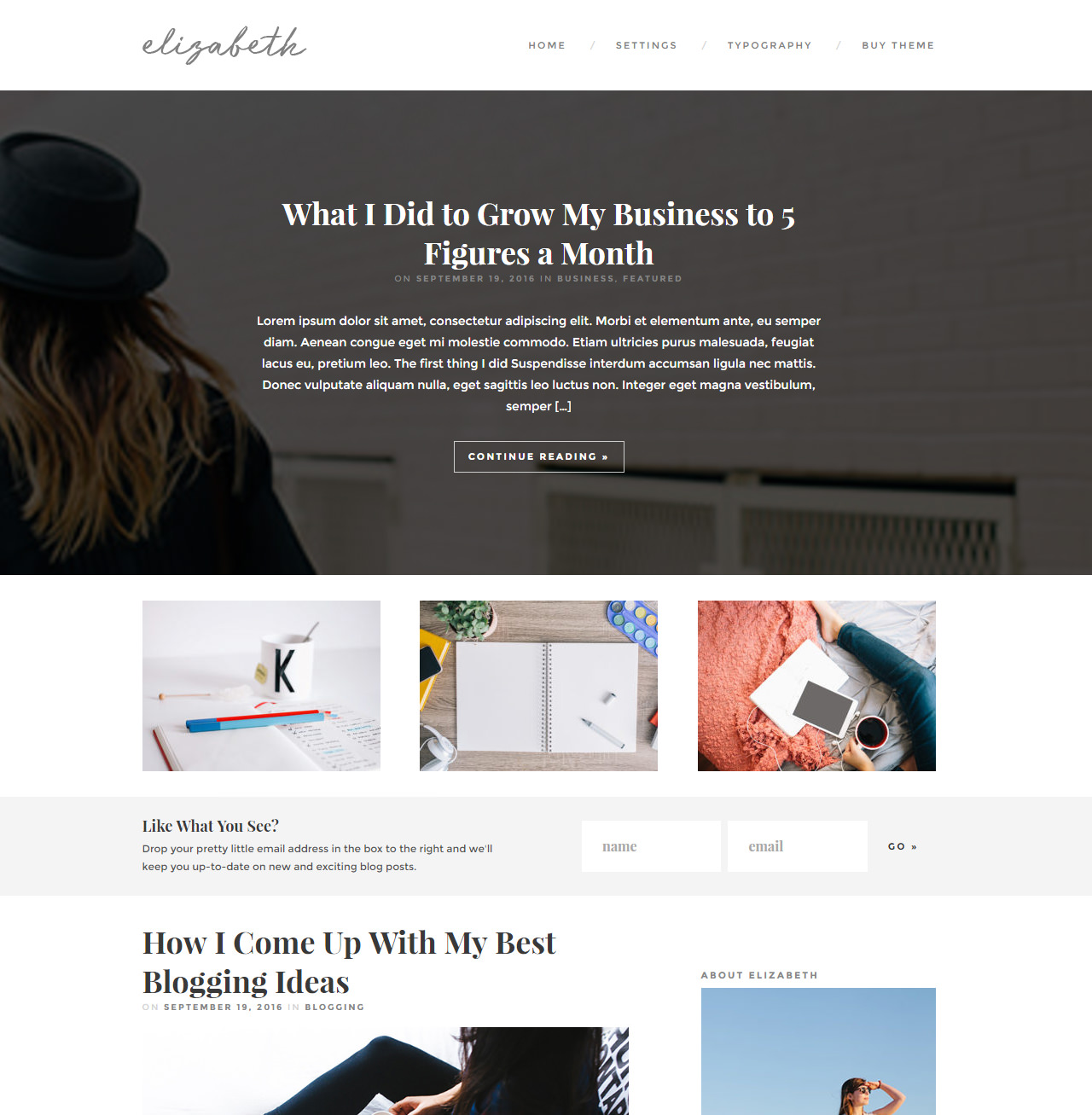 Elizabeth - Magazine theme for WordPress bloggers