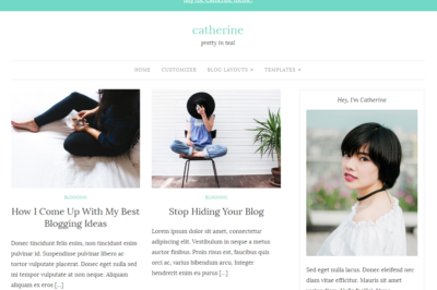 Catherine - two column grid layout