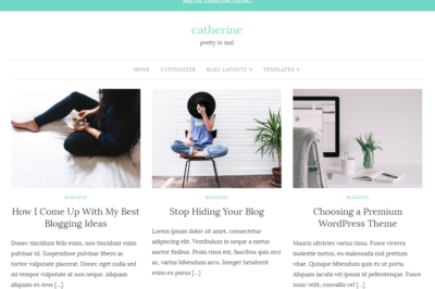 Catherine - three column grid layout