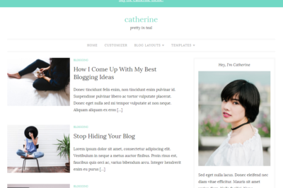 Catherine WordPress theme