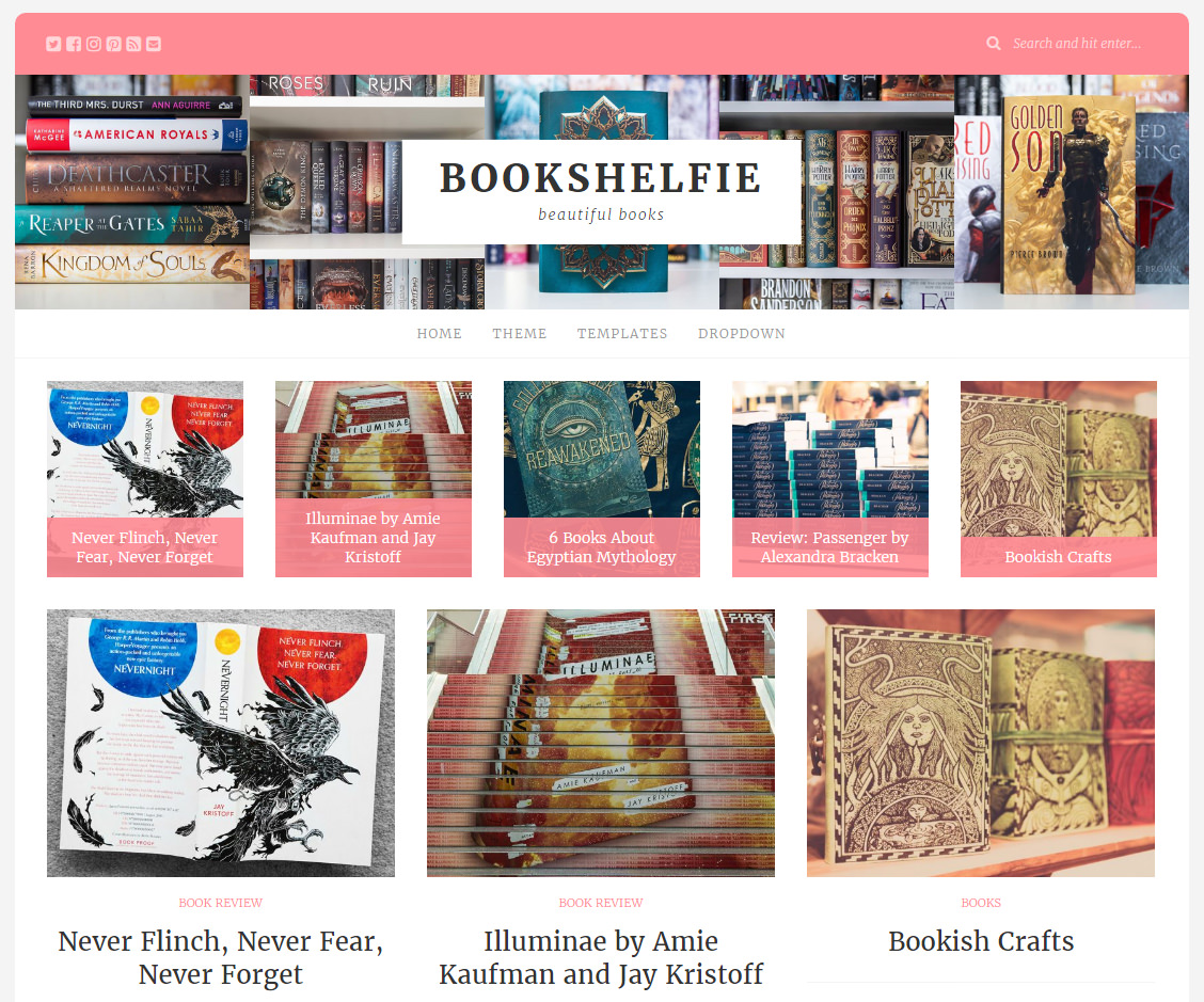 Bookshelfie WordPress Theme